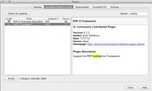 codeigniter plugin instal