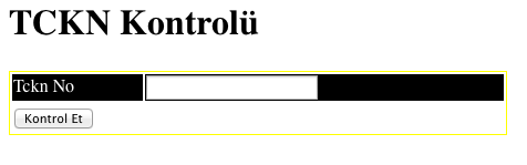 tc kimlik no kontrol php