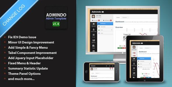 Admindo admin panel template