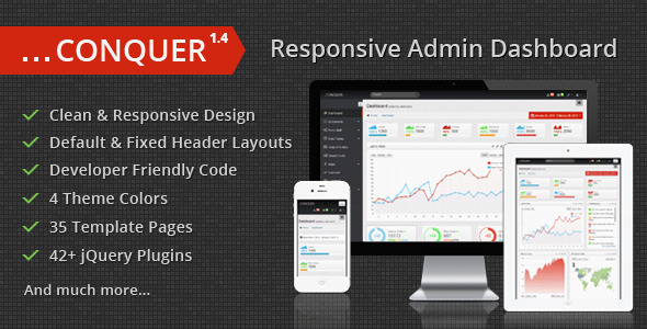 Conquer admin panel template