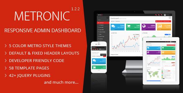 Metronic admin panel template